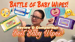 WHAT IS THE BEST BABY WIPES? | REVIEW AND COMPARISON | Nins Po