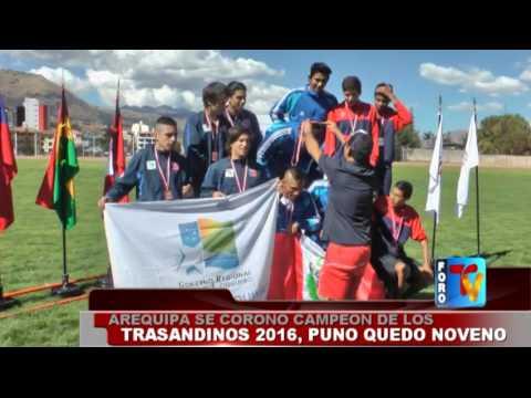 Arequipa se corono campeón de los trasandinos 2016, Puno quedó noveno
