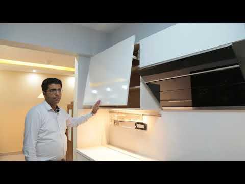 White Handleless Kitchen powered by Hafele/Blum & Hettich from Interazzo.com