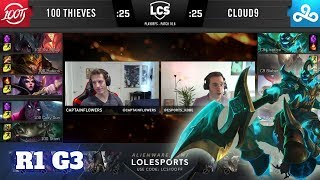 Cloud 9 vs 100 Thieves - Game 3 | Round 1 PlayOffs S10 LCS Spring 2020 | C9 vs 100 G3