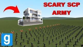 SCP ARMY VS MODERN HOUSE! - Garry's mod Sandbox