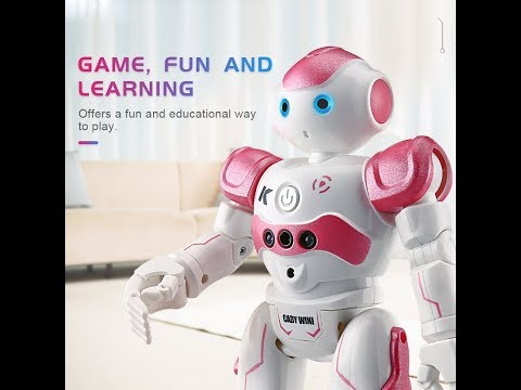 Virhuck R2 RC Smart Robot Toys Dancing Singing Walking Toy Gesture Senses for Kids Girls Birthday Ch