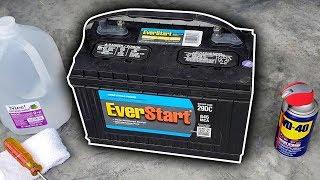 Marine Battery Maintenance (Cleaning & Charging)