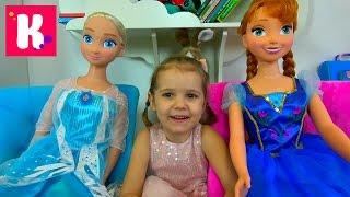 Подарок на День Рождения Кати который опоздал на 1 месяц Куклы FROZEN Эльза и Анна в рост Miss Katy