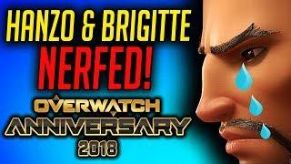 Anniversary Patch - Brigitte & Hanzo NERFED & Ana Buffed! [Overwatch Patch]