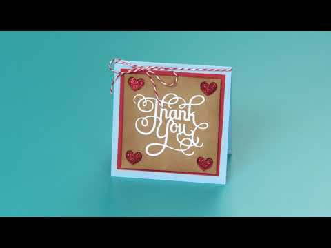 DIY Sizzix Jen Long Value Kit Thank You Hearts Card