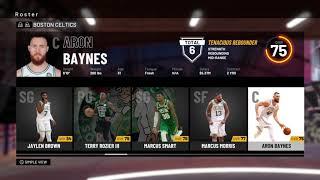 NBA 2K19 Boston Celtics Roster
