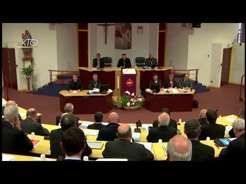 Séance d'ouverture de l'assemblée de Printemps des évêques de France à Lourdes