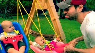 Enrique Iglesias sabe muy bien como entretener a sus hijos Nicholas y Lucy