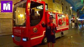 #8 Стамбул едем в Кидзанию играем в пожарного делаем конфеты и мороженое