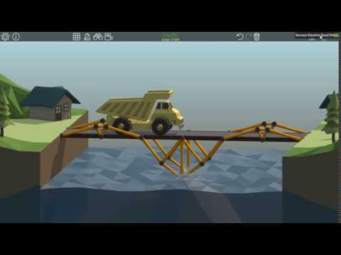 Poly Bridge 1-11 [Low Cost Bridge]