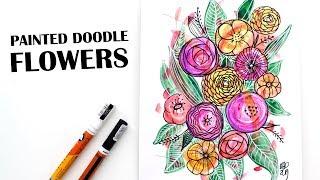 Easy Acrylic Paint Doodle Flowers