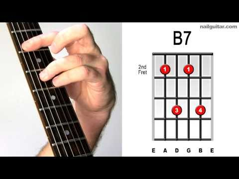B7 ♫♬ How To Play The MUST Learn Guitar Bar Chords