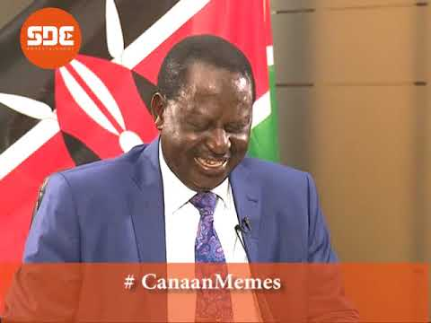 Mafisi tutakuwa mafilisti- Raila Odinga reacts to hilarious Canaan memes