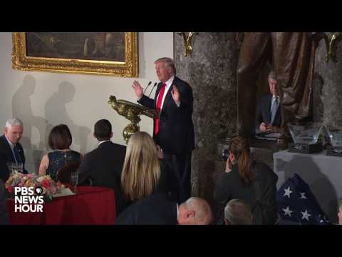 President Donald Trump speaks at inaugural luncheon, thanks Clintons for attending