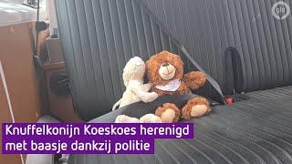 Knuffelkonijn Koeskoes wordt herenigd met Midas