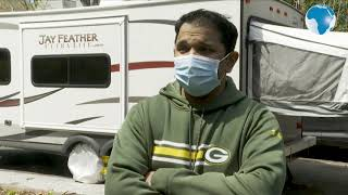 To protect his family, US doctor moves into an RV