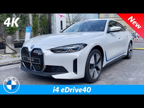 BMW i4 eDrive40 2022 - FIRST Look in 4K | Almost better than Tesla Model 3 SR+?