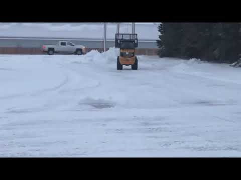 Image of Morning snow clean up after the storm, the VF1.63C is super efficient to do this job!