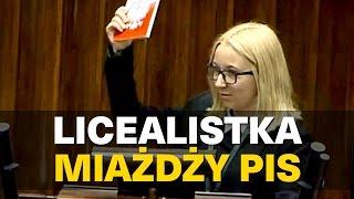 Licealistka miażdży PiS!