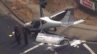 RAW: Chopper 5 Video Of Small Plane Crash In Concord