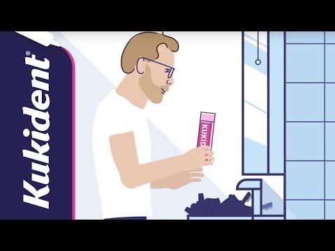 Come funziona l'adesivo per dentiere | Kukident