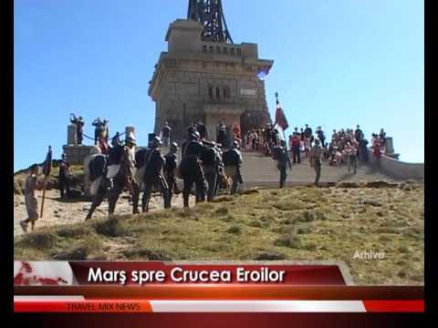 Marş spre Crucea Eroilor – VIDEO