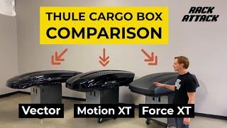 Thule Cargo Box Comparison: Vector VS Motion XT VS Force XT