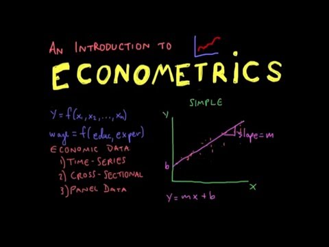Econometrics // Lecture 1: Introduction