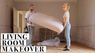 DECORATE OUR LIVING ROOM WITH US FROM START TO FINISH | INTHEFROW