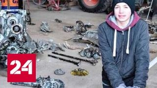 Датский школьник откопал самолет времен Второй мировой с останками пилота