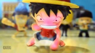 Luffy vs Cell en Stop Motion