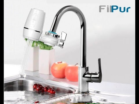 Instalacion del Filtro purificador de agua para grifo Filpur