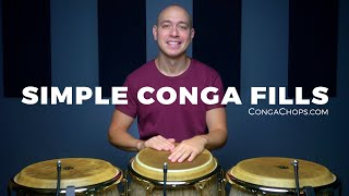 Conga Lessons | Conga Fills Tutorial | How to Play Three Simple Conga Fills | CongaChops.com