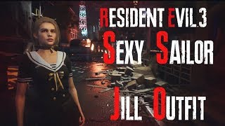 Sexy Sailor Jill Outfit For Resident Evil 3 Remake
