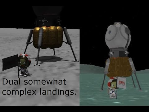 KSP - A somewhat complex mission to the Mun and Minmus