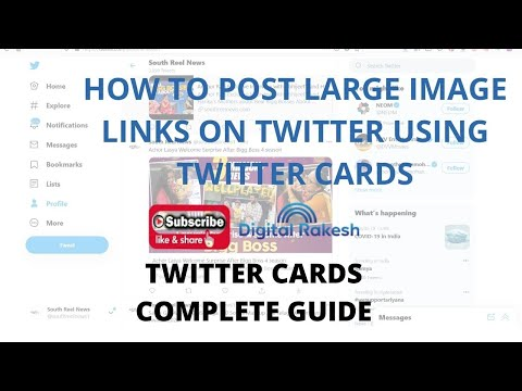 How to Post Large Image Links on Twitter Using Twitter Cards