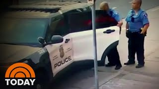 Video Appears To Show George Floyd In Struggle In Police Vehicle | TODAY