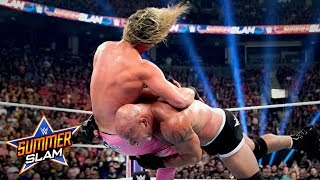 The third time is not the charm for Dolph Ziggler, as Goldberg splits The Showoff with a Spear after getting drilled with two superkicks. Courtesy of WWE Network.  #SummerSlam  GET YOUR 1st MONTH of WWE NETWORK for FREE: http://wwe.yt/wwenetwork --------------------------------------------------------------------- Follow WWE on YouTube for more exciting action! --------------------------------------------------------------------- Subscribe to WWE on YouTube: http://wwe.yt/ Check out WWE.com for news and updates: http://goo.gl/akf0J4 Find the latest Superstar gear at WWEShop: http://shop.wwe.com --------------------------------------------- Check out our other channels! --------------------------------------------- The Bella Twins: https://www.youtube.com/thebellatwins UpUpDownDown: https://www.youtube.com/upupdowndown WWEMusic: https://www.youtube.com/wwemusic Total Divas: https://www.youtube.com/wwetotaldivas ------------------------------------ WWE on Social Media ------------------------------------ Twitter: https://twitter.com/wwe Facebook: https://www.facebook.com/wwe Instagram: https://www.instagram.com/wwe/ Reddit: https://www.reddit.com/user/RealWWE Giphy: https://giphy.com/wwe