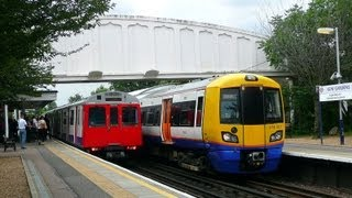 preview picture of video 'One Of Each Train Passes At Kew Gardens Station (London)'