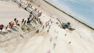 Heaven or Hell Xtreme Enduro second group race start with FPV drone