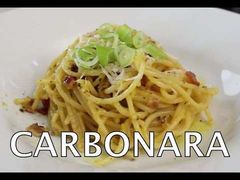 Carbonara Spaghetti Recipe (Easy Pasta How To)- BenjiManTV