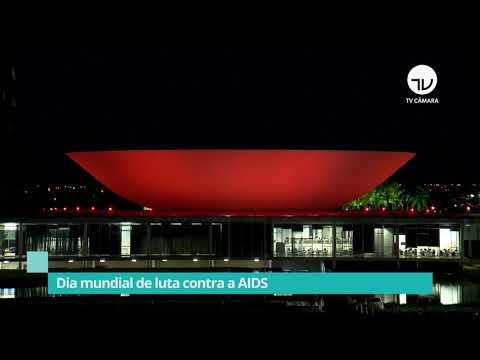 Congresso se ilumina de vermelho pelo combate à Aids - 01/12/20