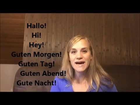 Aprender alemán - Saludos - A1