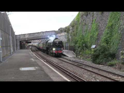 With her whistle wide open LNER 60163 'Tornado' speeds throu…