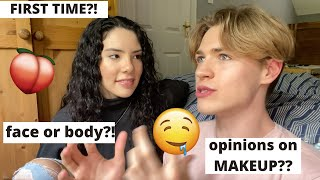 Pretty Boy Answers Questions Girls are TOO SCARED To Ask! | Andrea & Lewis