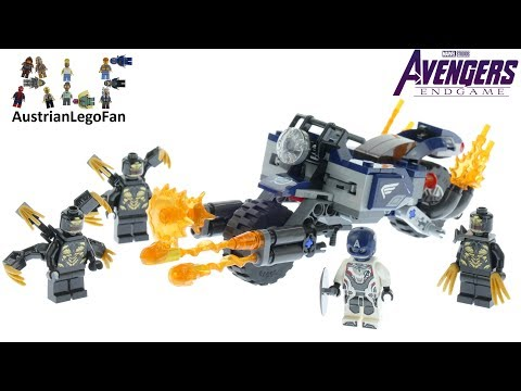 Vidéo LEGO Marvel Super Heroes 76123 : Captain America et l'attaque des Outriders