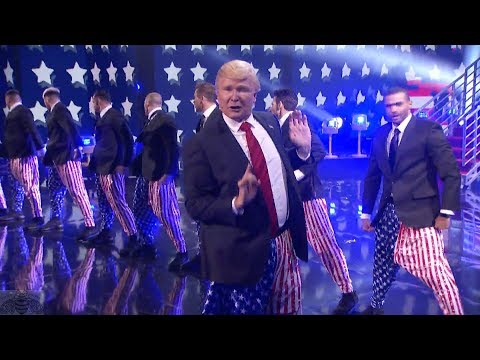 America's Got Talent 2017 The Singing Trump Performance and Comments Live Shows S12E13 (видео)