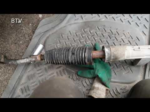 Снятие и ремонт рулевой рейки Меган 2 Scenic 2 (часть 1)