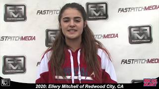 2020 Ellery Mitchell Pitcher and Shortstop Softball Skills Video